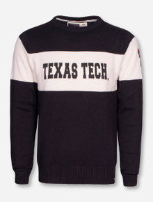 "Texas Tech ""Bar Down"" Black and Cream Sweater"