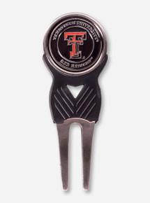 Texas Tech Double T Black Divot Tool