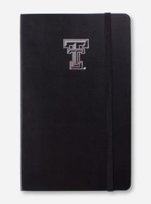 Texas Tech Silver Double T Black Moleskine Ruled Notebook