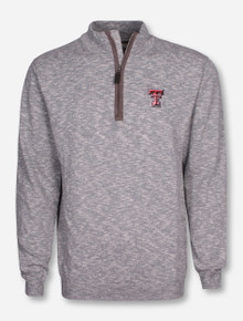 "Salute Texas Tech ""Marina"" Knit Quarter Zip Sweater"