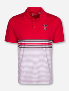 "Cutter & Buck Texas Tech ""Crossbar"" Striped Polo"