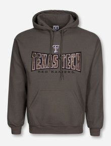 Texas Tech Camo Block on Hunter Green Hoodie