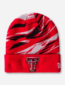 "New Era Texas Tech ""Print Play"" YOUTH Red Beanie"