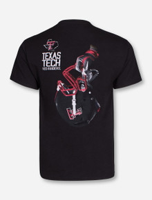 Texas Tech Victory Helmet on Black T-Shirt