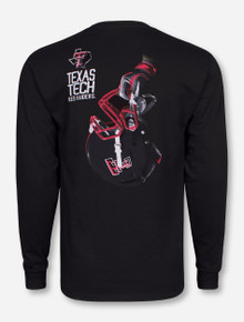 Texas Tech Victory Helmet on Black Long Sleeve Shirt