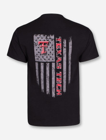 Texas Tech Fatigue Flag on Black T-Shirt