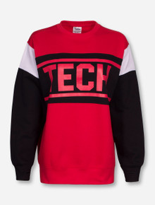 "Pressbox Texas Tech ""Leona"" Fleece Crew Neck Sweatshirt"