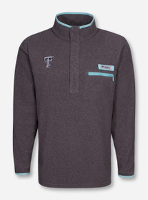 "Columbia Texas Tech ""Harborside"" Grey and Teal Fleece Pullover"