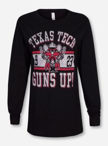 Texas Tech Raider Red Guns Up Black Long Sleeve Shirt