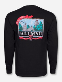 Texas Tech Alumni Landscape on Black Long Sleeve Shirt