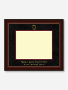 HSC PhD Gold Embossed Cherry Bead Black Suede Diploma Frame T14