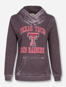 Texas Tech Retro Soft Burnout Women's Hoodie
