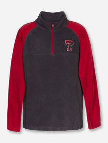 "Columbia Texas Tech ""Glacial"" YOUTH Red and Grey Fleece"