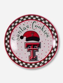 Texas Tech Santa Cookie Plate