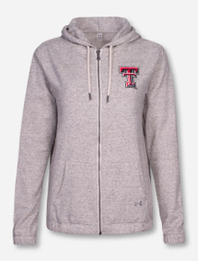 "Under Armour Texas Tech ""Levity"" Women's Ivory Hooded Sweatshirt Jacket"