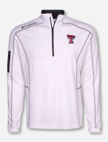 "Columbia Texas Tech ""Shotgun"" White Quarter Zip"
