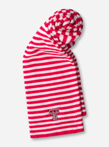 LogoFit Texas Tech Red and White Striped Scarf