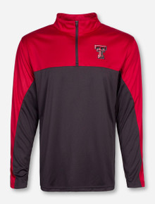 Arena Texas Tech Illusioned Red and Grey Quarter Zip Pullover
