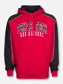 Arena Texas Tech Red Raiders Embroidered on Red and Charcoal Hoodie