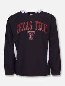Arena Texas Tech Lightweight Black and White Pullover