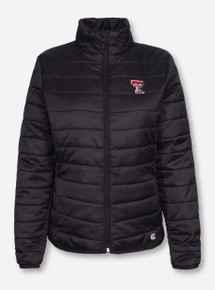 Arena Texas Tech Double T on Black Puffer Jacket