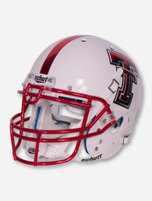 Schutt Texas Tech White with Red Face Mask Authentic Helmet