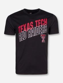 Arena Texas Tech Red Raiders Slant Black T-Shirt