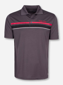 Chiliwear Texas Tech Triple Stripe Charcoal Polo