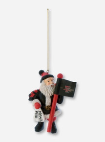 Texas Tech Fan Santa Christmas Ornament