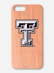 Texas Tech Cherry Wood iPhone Case