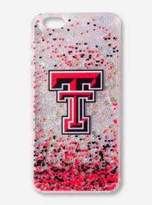 Texas Tech Glitter Waves iPhone Case