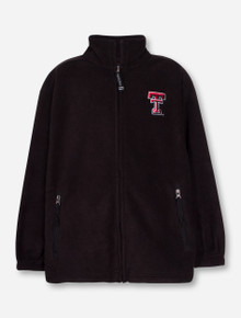 Charles River Texas Tech Voyager YOUTH Black Fleece Jacket