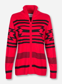 Emerson Texas Tech Aztec Zip Up Sweater