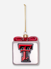 Texas Tech Double T Present Christmas Ornament
