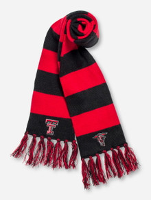 Top of the World Texas Tech Double T Red & Black Striped Scarf