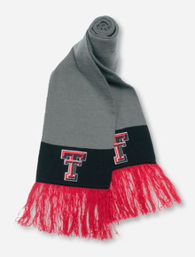 47 Brand Texas Tech Double T on Grey & Black Scarf