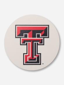 Texas Tech Double T on White Trivet