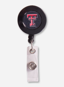 Texas Tech Double T Black on Black Retractable Badge Holder