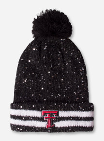 47 Brand Texas Tech Double T Black Sequin Knit Beanie