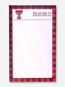 Texas Tech Double T on Tartan Plaid Memo Pad Set