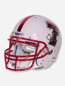 Schutt Texas Tech White with Red Face Mask Replica Helmet