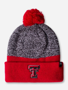 47 Brand Texas Tech Backdrop Red and Grey Beanie