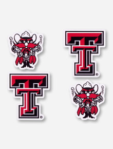 Texas Tech Double T and Raider Red Magnet Set