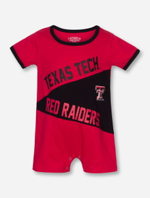 Arena Texas Tech Red Raiders on INFANT Red and Black Romper