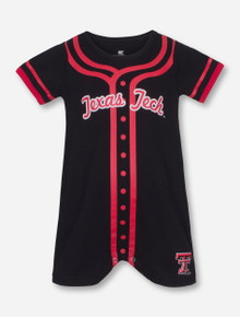 Arena Texas Tech Baseball Jersey Print on INFANT Black Romper