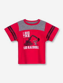 Arena Texas Tech I Dig the Red Raiders INFANT Red and Grey T-Shirt