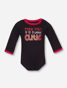 Arena Texas Tech Little Cutie INFANT Black Onesie