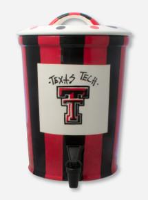 Ceramic Texas Tech Double T Black & Red Beverage Dispenser