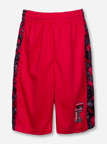 Arena Texas Tech Digital Camo YOUTH Red Shorts