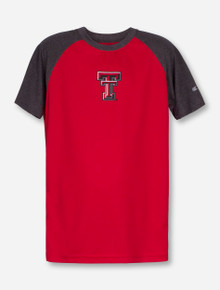 Arena Texas Tech Double T on YOUTH Mesh Raglan T-Shirt